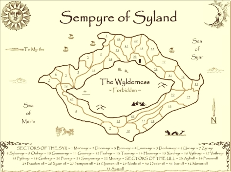 Map of Syland ~ cartography by John Klobucher